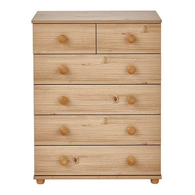 CAMBRIDGE 4 2 DRAWER CHEST PINE