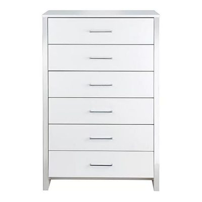 GOSPORT 6 DRAWER CHEST WHITE ASH
