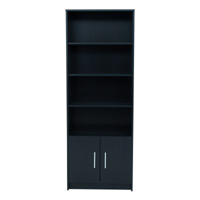 NORBURY 2 DOOR DISPLAY UNIT BLACK