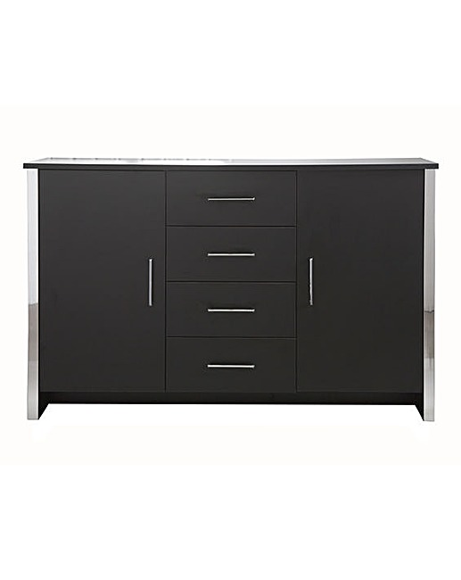 GOSPORT 2 DOOR 4 DRAWER SIDEBOARD BLACK